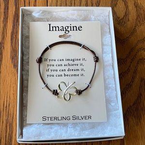NEW Sterling Silver Imagine Butterfly Bracelet